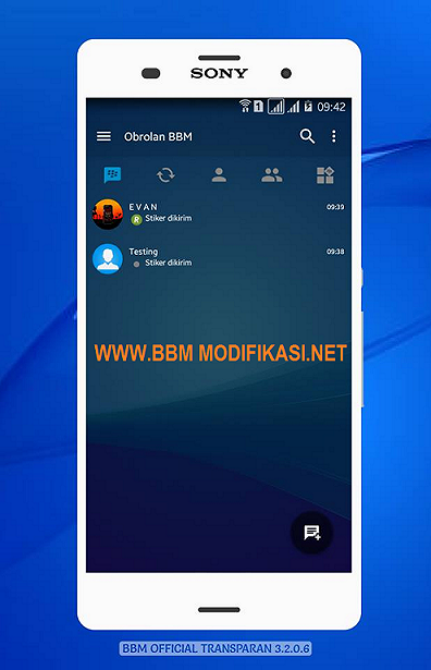 BBM Mod Official TRANSparent Theme v3.2.0.6 APK Terbaru
