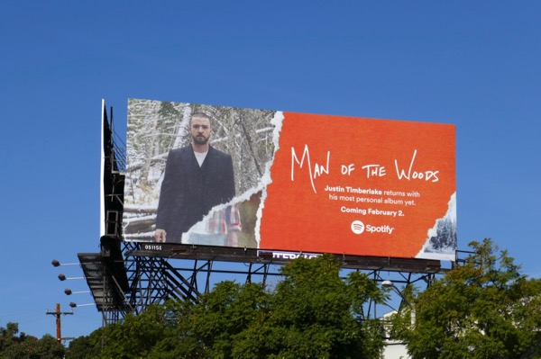 Man of the Woods Justin Timberlake Spotify billboard