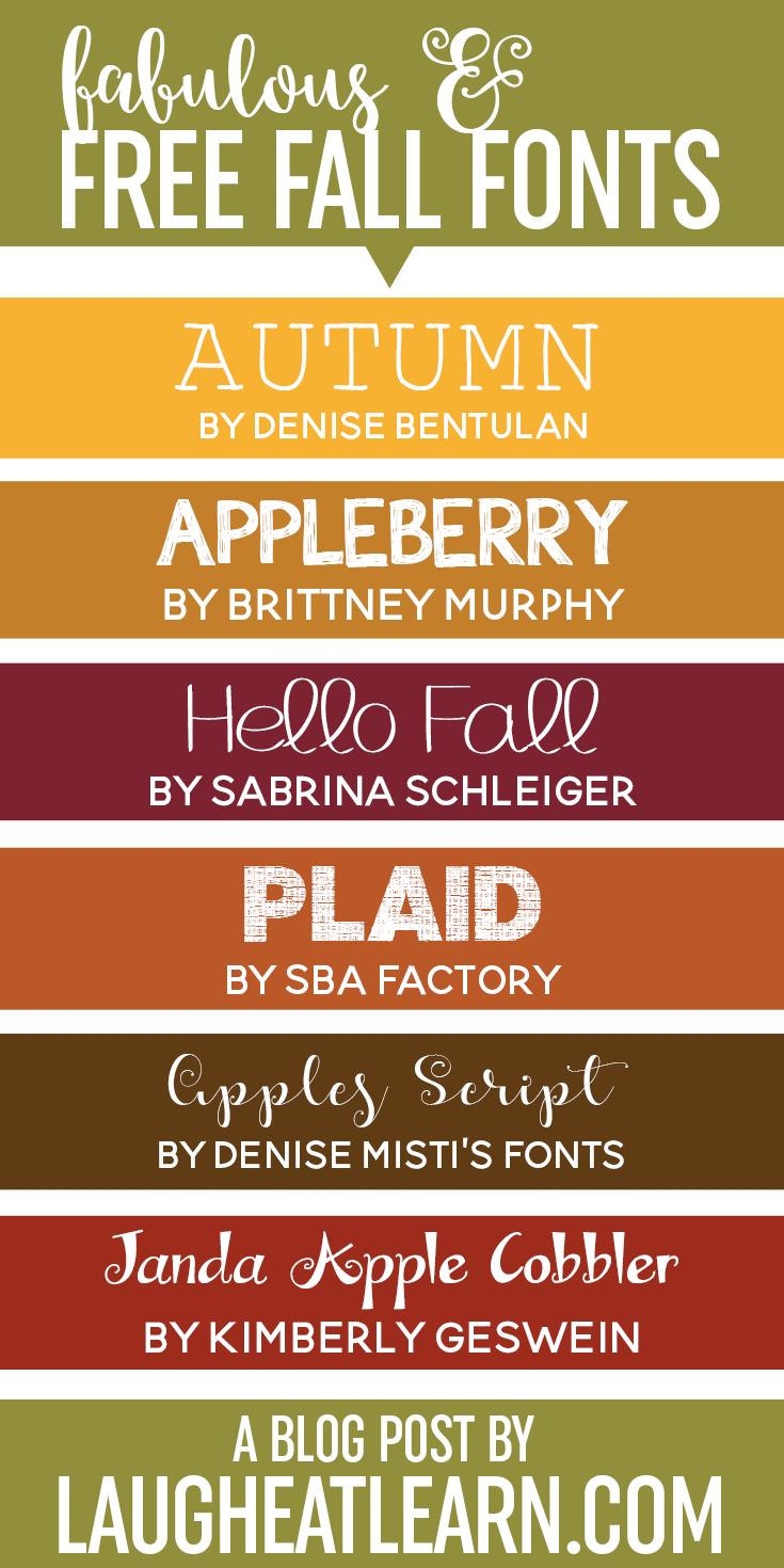 Fabulous Fall Fonts » Laugh Eat Learn