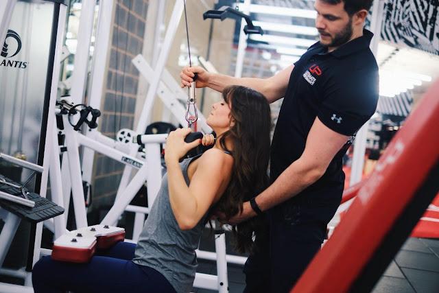 Brooke Vincent doing gym workout