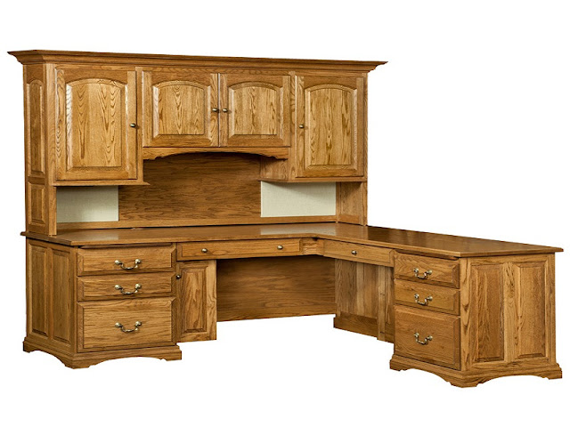 best buying rustic wood office furniture with hutch for sale