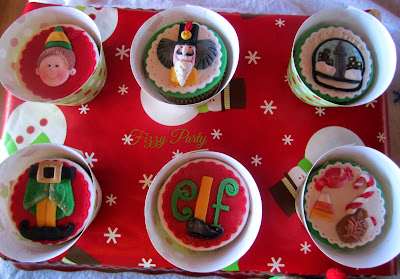 Elf Party, Christmas Party, Fizzy Party, Cupcake Toppers, Fancy Cakes