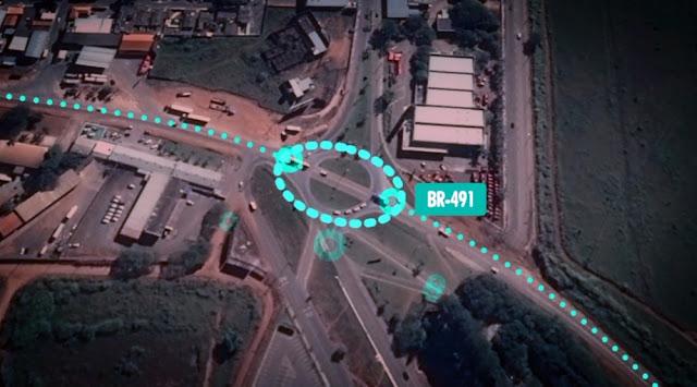 Trevo deverá ganhar estrutura mais larga em formato oval em Alfenas (Foto: Reprodução EPTV / Devanir Gino)
