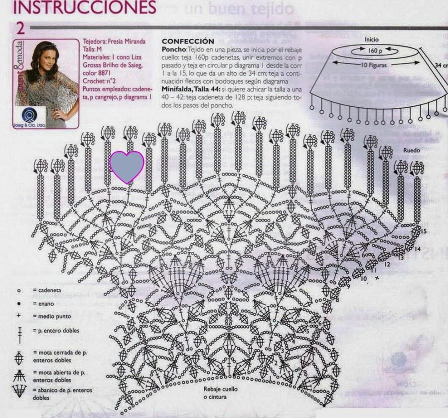❤ ✿ Mi Rincón del Tejido ✿ ❤: Otra variedad de capa a crochet