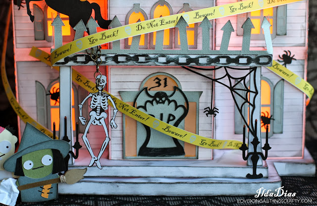 House of Haunts Halloween Decor | Facebook Challenge Entry | SVGCuts Files