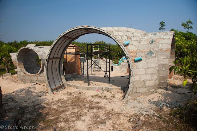 ก่อสร้างผนังบ้าน