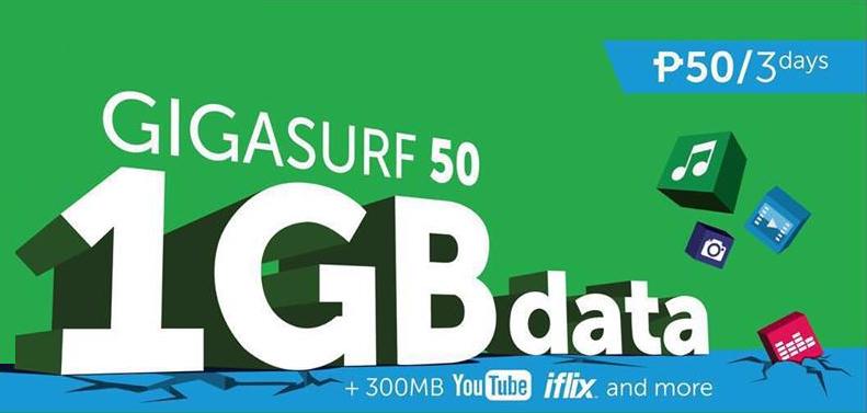 Smart Giga Surf 50 and GigaSurf 299 Internet Surfing Promo