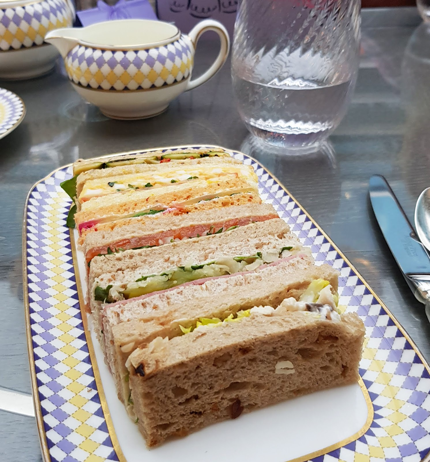 A plate of sandwiches starts the Berkeley Hotel Pret-a-Portea