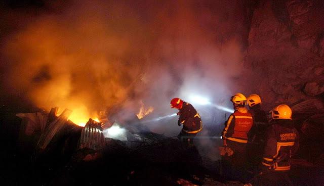 Pasar Guna Karya Kalideres Terbakar, 18 Mobil Damkar Meluncur