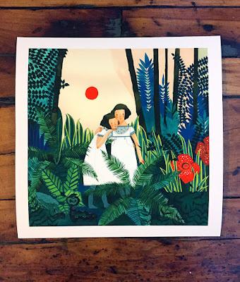 Jen Corace Gemini Sisters art Print