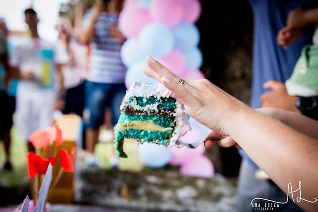 cha da revelação, rosa e azul, menino ou menina, bolo revelação, decoração chá da revelação, decoração diy, decoração ao ar livre