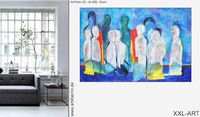 Abstrakte Acrylmalerei auf Leinwand mit Keilrahmen.XXL Formate