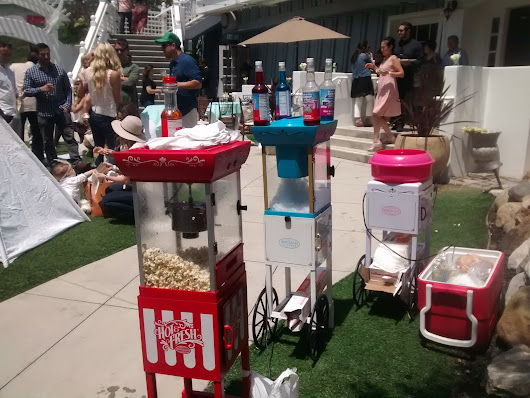 Popcorn Machine, Cotton Candy & Snow Cone Machine Catering Event In Manhattan Beach, Los Angeles