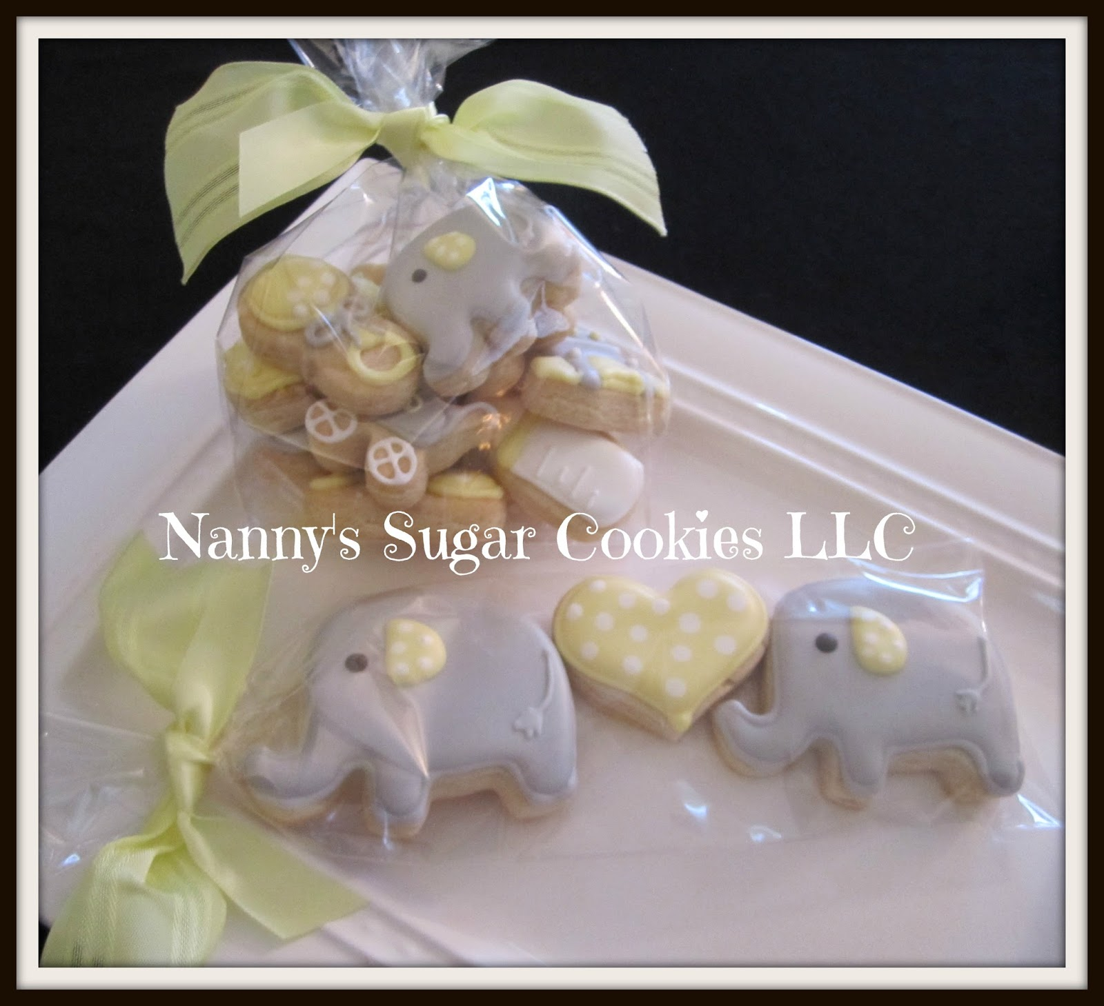 Nanny s Sugar Cookies LLC Elephant Theme Baby Shower