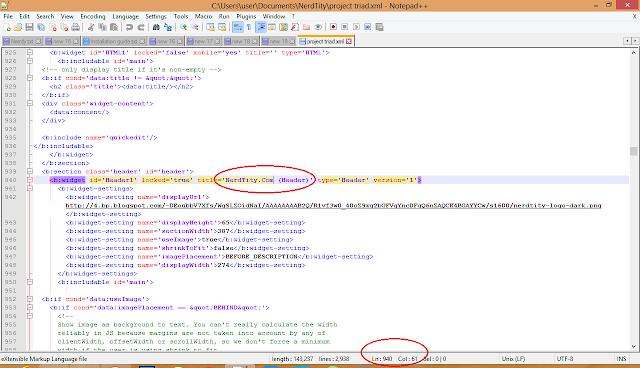 locate error column in blogger