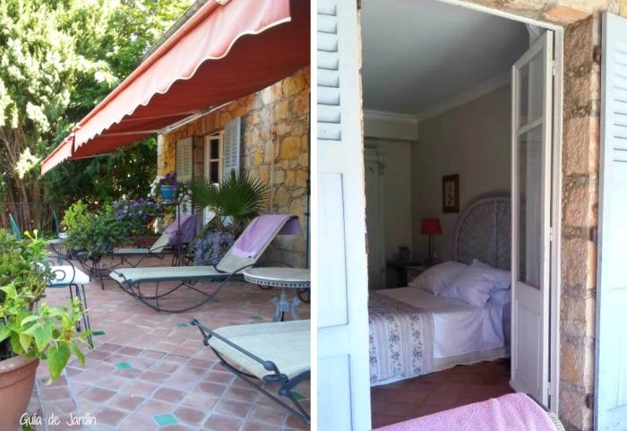 Nuestro dormitorio y la salida a la terraza