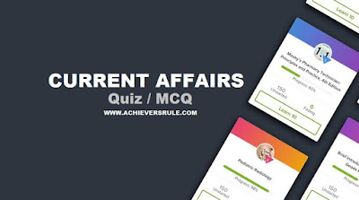 Daily Current Affairs Quiz - 7th May 2018