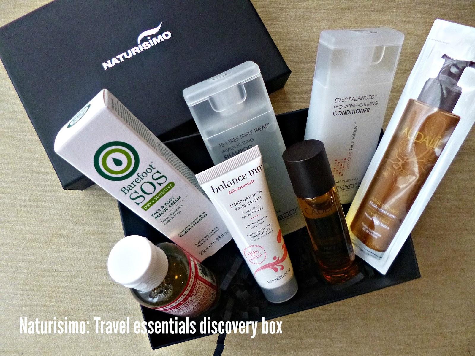 Naturisimo Travel essentials discovery box