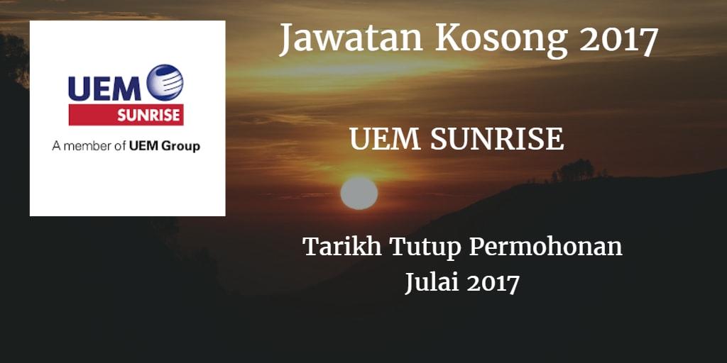 Jawatan Kosong UEM SUNRISE Julai 2017