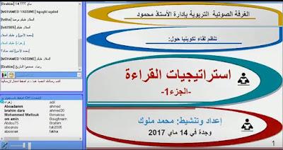 استراتيجيات القراءة-الجزء1 من تقديم المفتش التربوي محمد ملوك