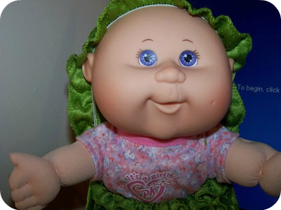 Six String Kate's modified Cabbage Patch doll