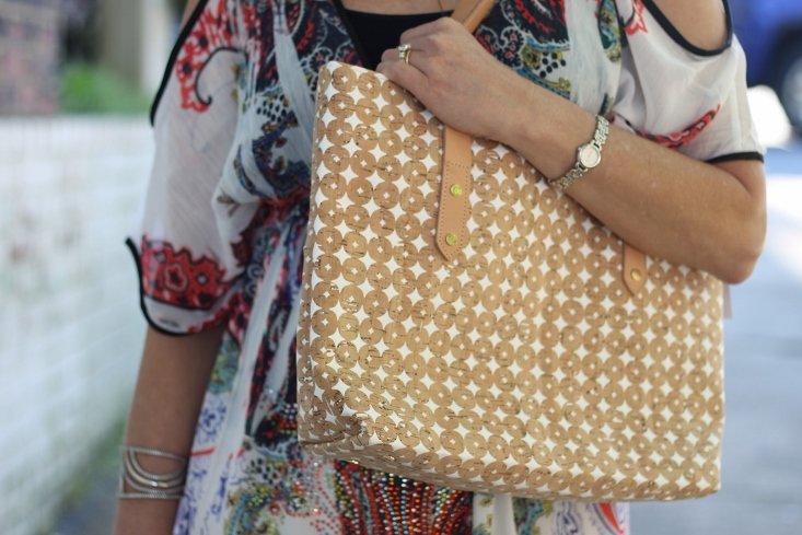 White Cork Tote Bag