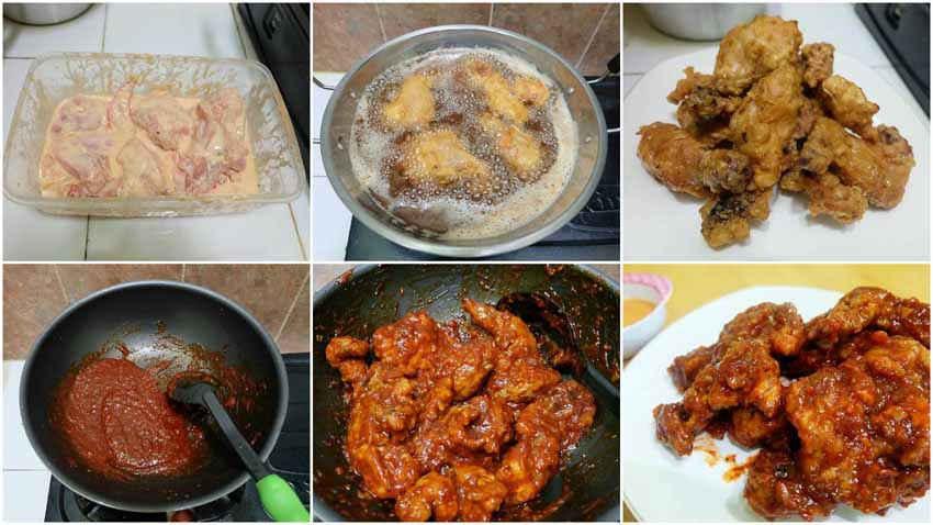 Resep Fire Chicken Ala Richeese Dengan Cheese Sauce