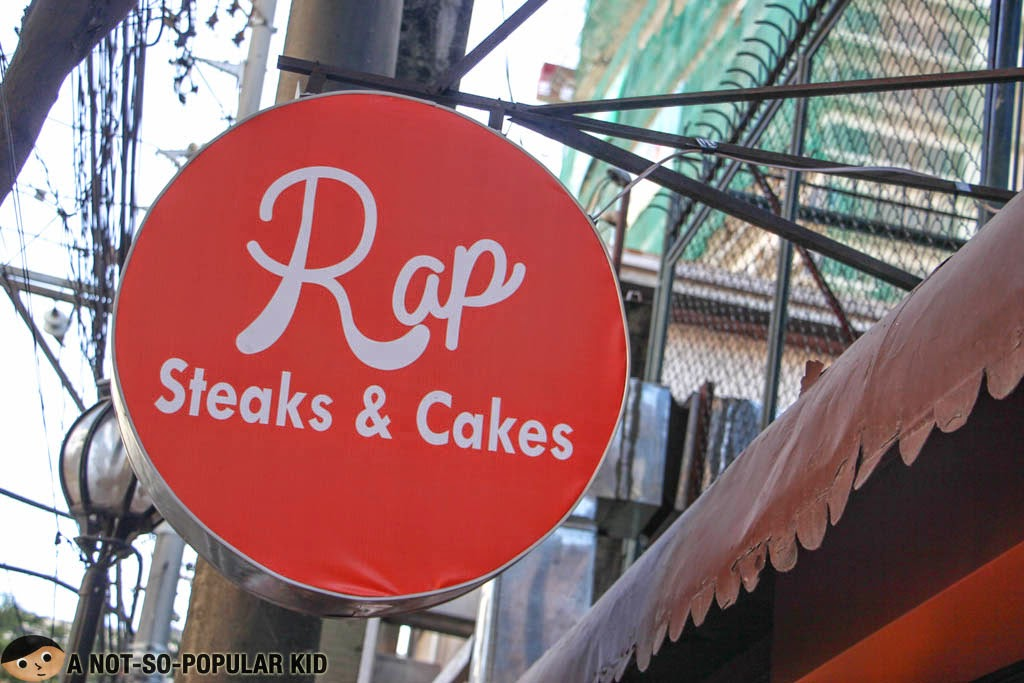 The new signage of RAP Steaks and Cakes