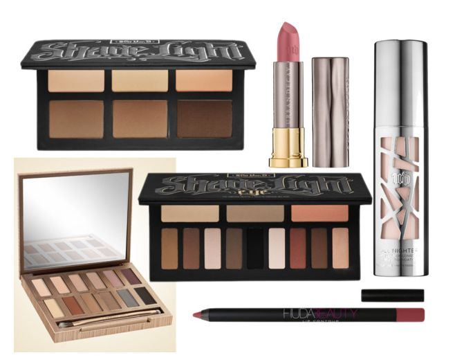 beauty wishlist ft. urban decay vice all nighter naked, kat von d shade + light huda beauty lip contour