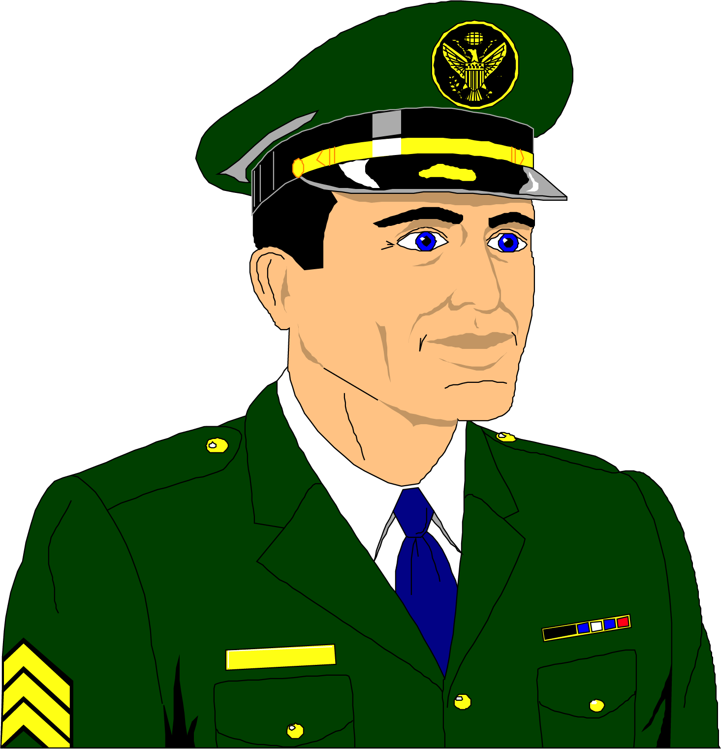 Military Personal Vector