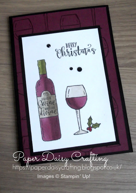 Festive card made with the Half Full set from Stampin' Up!, Paper Daisy Crafting