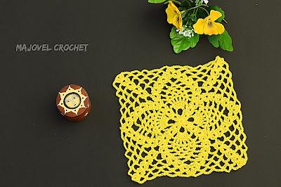 1-Crochet Cuadro de puntos de piñas Majovel Crochet ganchillo.