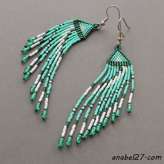 seed bead earrings anabel beaded jewelry beadwork turquoise