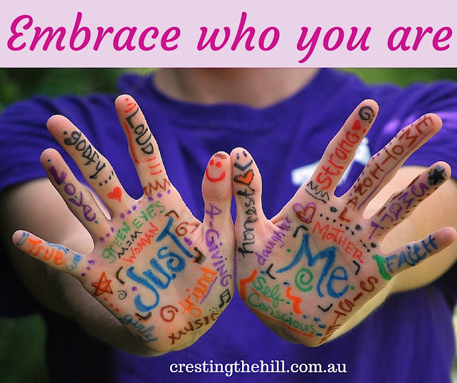 Learning to embrace who you are - accepting and celebrating authentic self