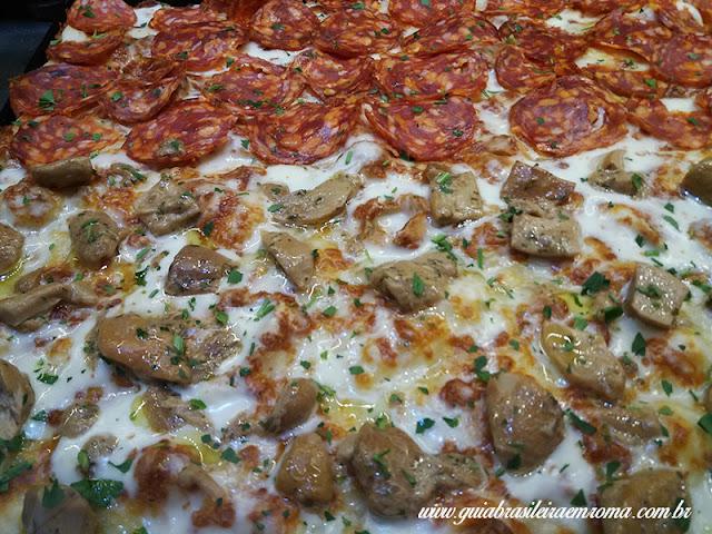 pizzas trastevere roma champignon calabrese - A melhor pizzeria quilo de Trastevere