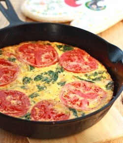 Tomato-Spinach Frittata with smoked spanish paprika