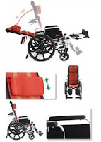 Karma Reclining Wheelchair KM-5000 F24