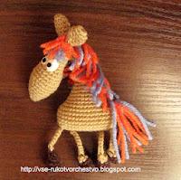 Коняшка Фрося крючком. Описание