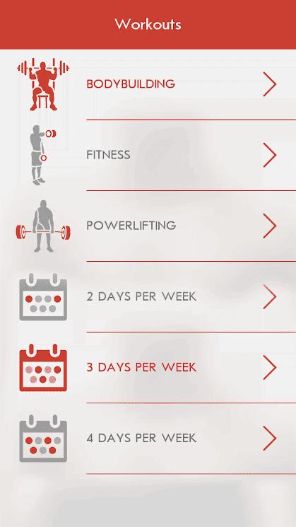 تطبيق اللياقة البدنية Fitness & Bodybuilding للأندرويد 2019 - صورة لقطة شاشة (3)