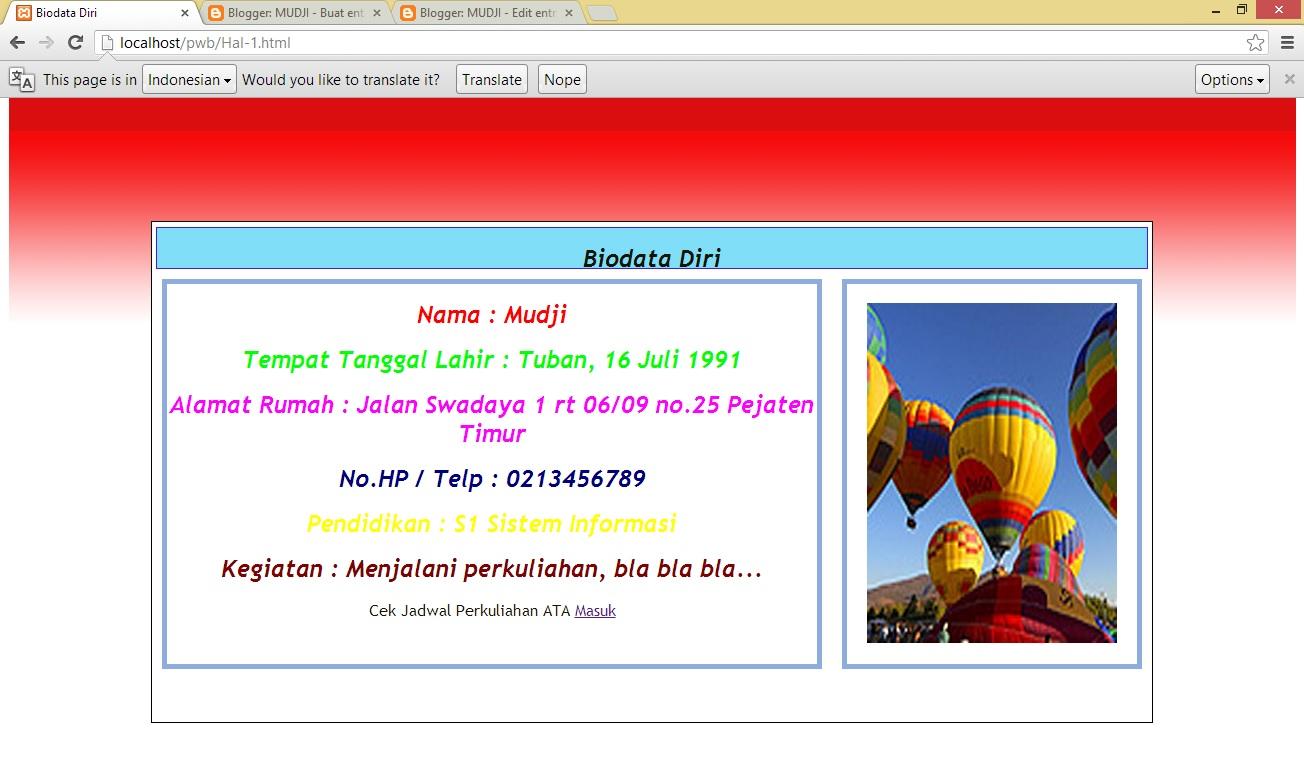 Contoh Coding Html Keren Contoh 43