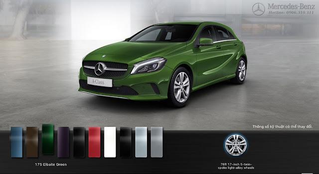 Thiết kế ngoại thất Mercedes A200 2018