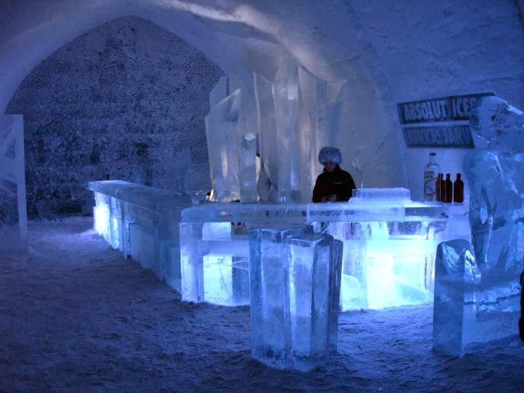 Ithaa Undersea Restaurant Ice Hotel Sweden Wallpapers Wallpaper View