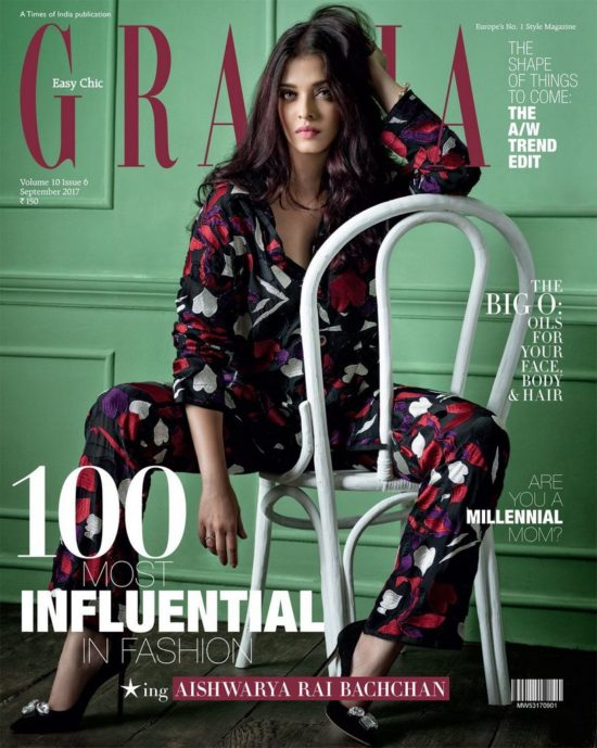 Aishwarya Rai Bachchan On The Cover of Grazia Magazine India September 2017