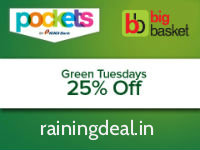 Bigbasket Grocery & More 25% OFF via ICICI Pocket Today Only rainingdeal.in