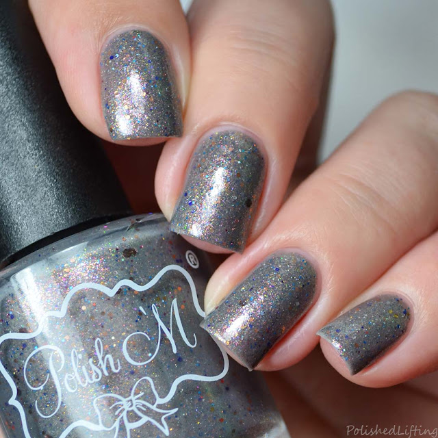 gray shimmer nail polish