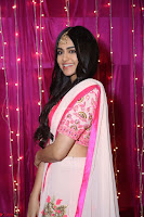 Adaa Sharma in White Pink Saree at Zee Telugu Apsara Awards 2017 40.JPG