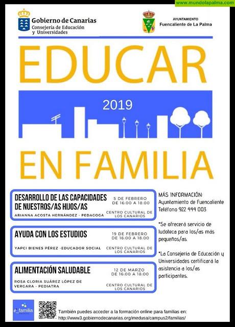 """El proyecto """"Educar en familia"""" vuelve al municipio de Fuencaliente"""