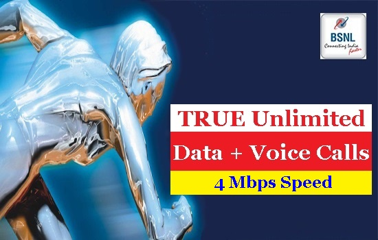 BSNL launches new 4 Mbps Unlimited Broadband plan BBG Combo ULD 1599 with 24 Hrs. Unlimited free calls to any network in India