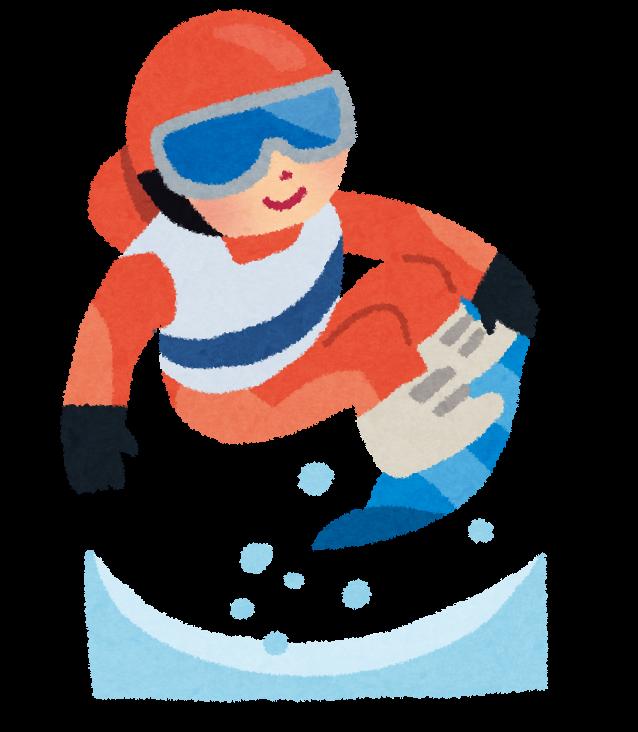 冬季オリンピックのイラストスノーボード かわいいフリー素材集