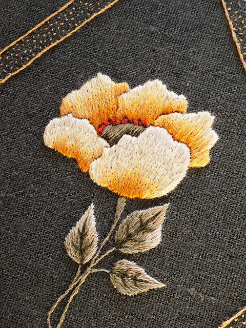 Jewel Series: Amber hand embroidery pattern